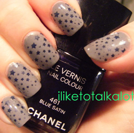 konad m84 chanel blue satin 461