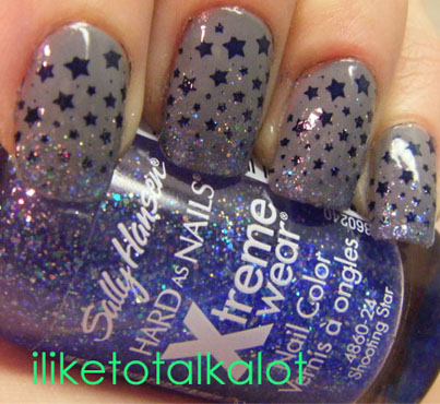 shooting star nail design 2