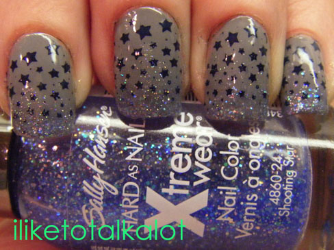 shooting star nail design 3