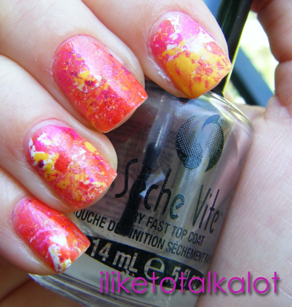 Endless Summer Splatter Manicure 10