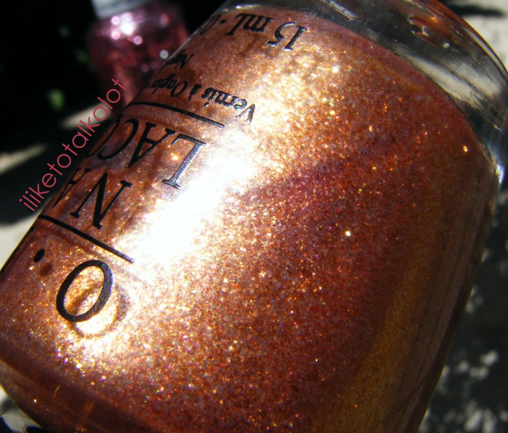 rose champagne iliketotalkalot OPI Pros and Bronze